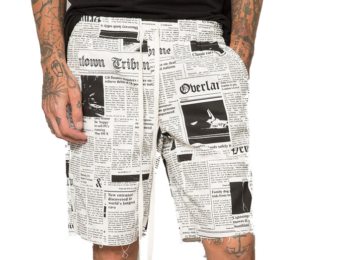 Elwood - Newspaper Twill Drop Crotch Shorts