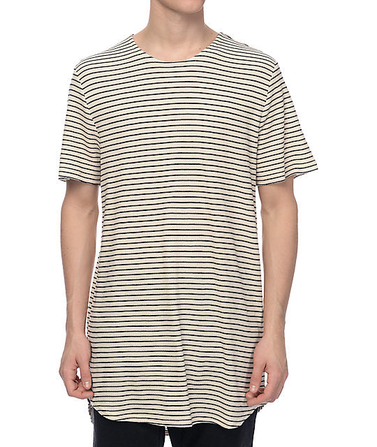 Elwood - Striped Curved Hem Tall Tee