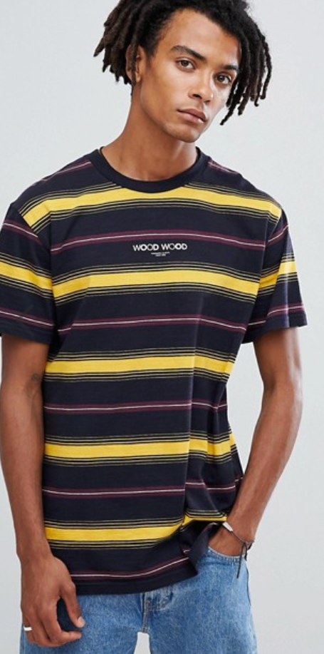 Wood Wood - Perry yellow striped t-shirt