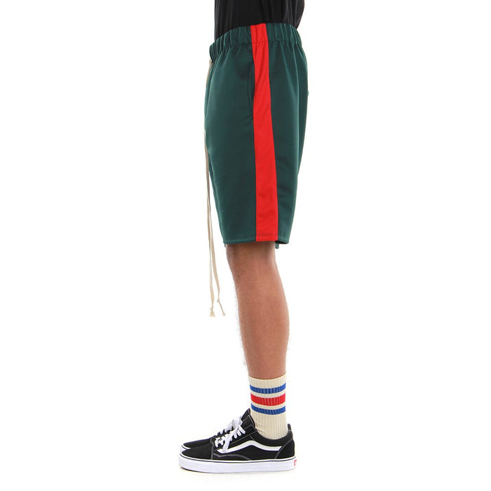 EPTM Track Shorts - Green/Red