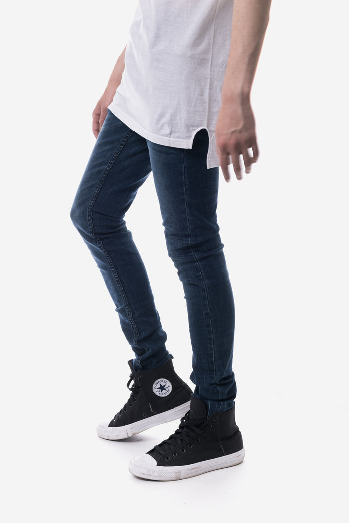 The 5 Pocket Skinny - Stone Blue