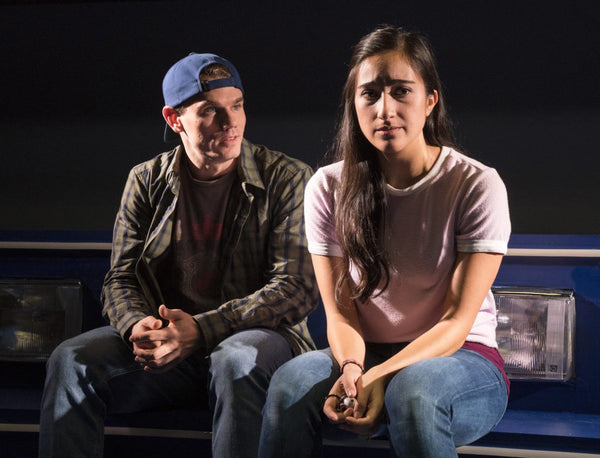 Krystina Alabado and Jay Armstrong Johnson in The Mad Ones, Off-Bway 2017