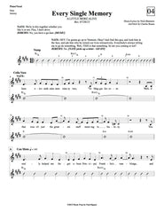 Every Single Memory | newmusicaltheatre.com | Sheet Music