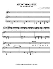 Anonymous Sex | newmusicaltheatre.com | Sheet Music