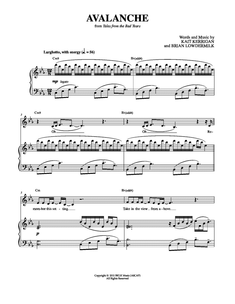 Best of Kerrigan-Lowdermilk | newmusicaltheatre.com | Sheet Music
