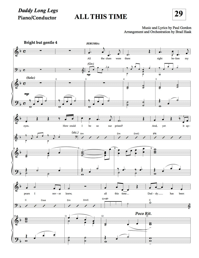 All This Time | newmusicaltheatre.com | Sheet Music