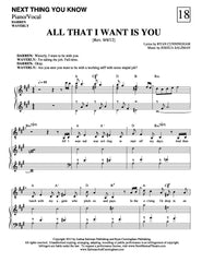 All That I Want Is You | newmusicaltheatre.com | Sheet Music