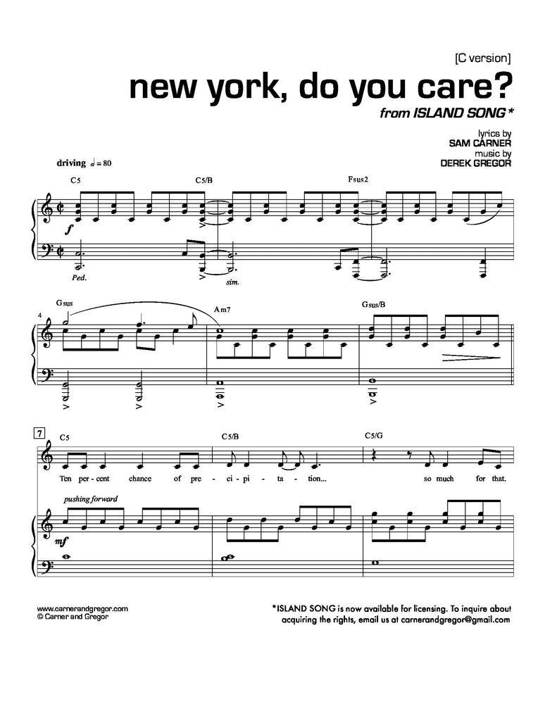 New York, Do You Care? (Alto Version)