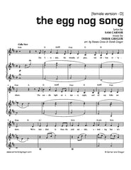 The Egg Nog Song (Alto Version)