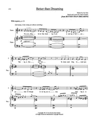 Better Than Dreaming | newmusicaltheatre.com | Sheet Music