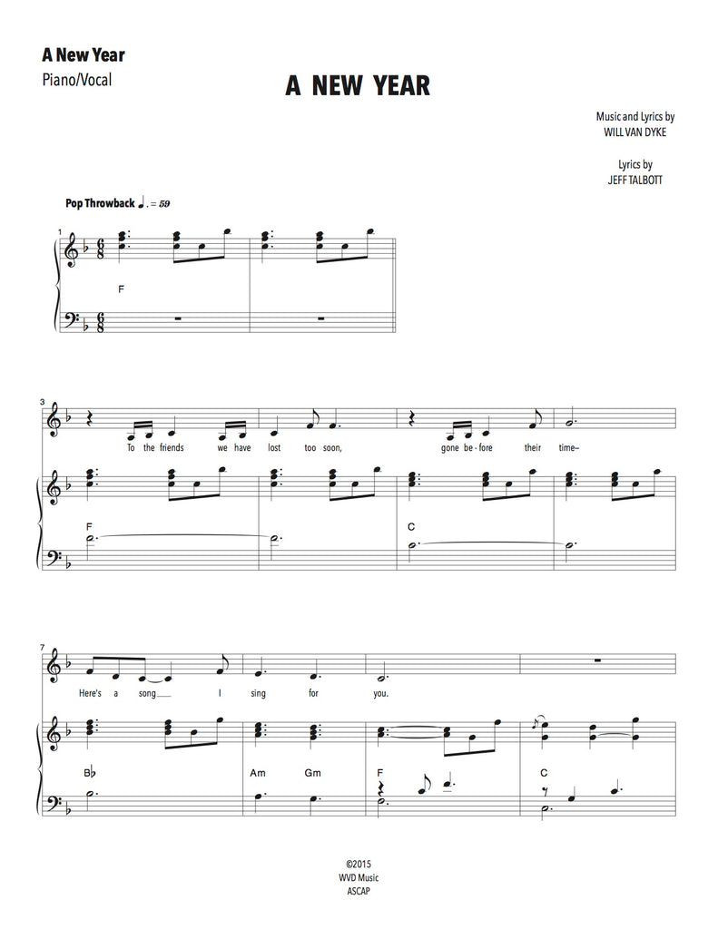 A New Year | newmusicaltheatre.com | Sheet Music