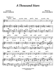 A Thousand Stars | newmusicaltheatre.com | Sheet Music