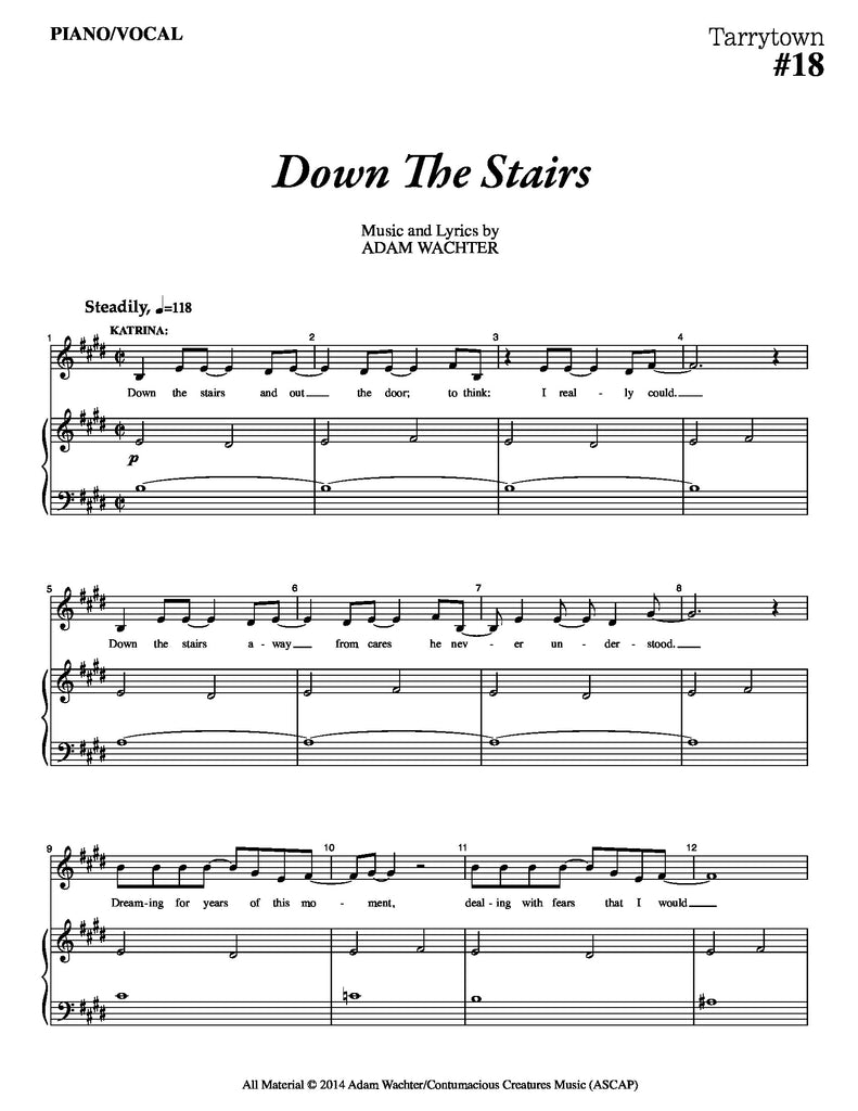 Down The Stairs | newmusicaltheatre.com | Sheet Music