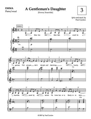 A Gentleman's Daughter | newmusicaltheatre.com | Sheet Music