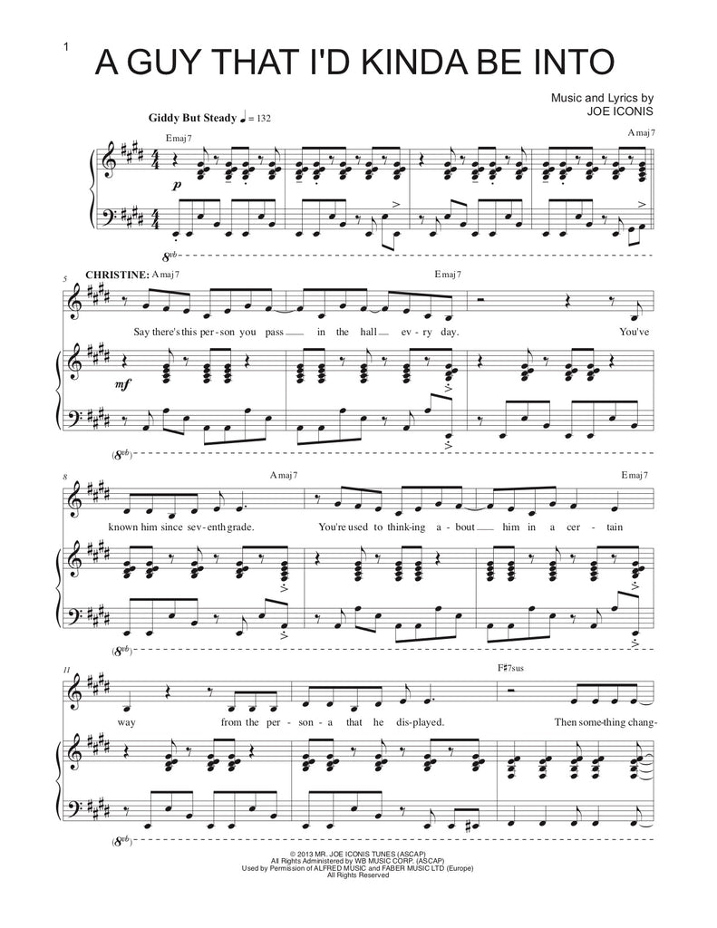 A Guy That I'd Kinda be Into | newmusicaltheatre.com | Sheet Music