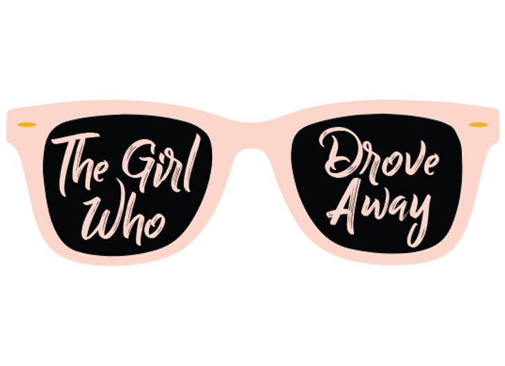 """The Girl Who Drove Away"" Vinyl Sticker"