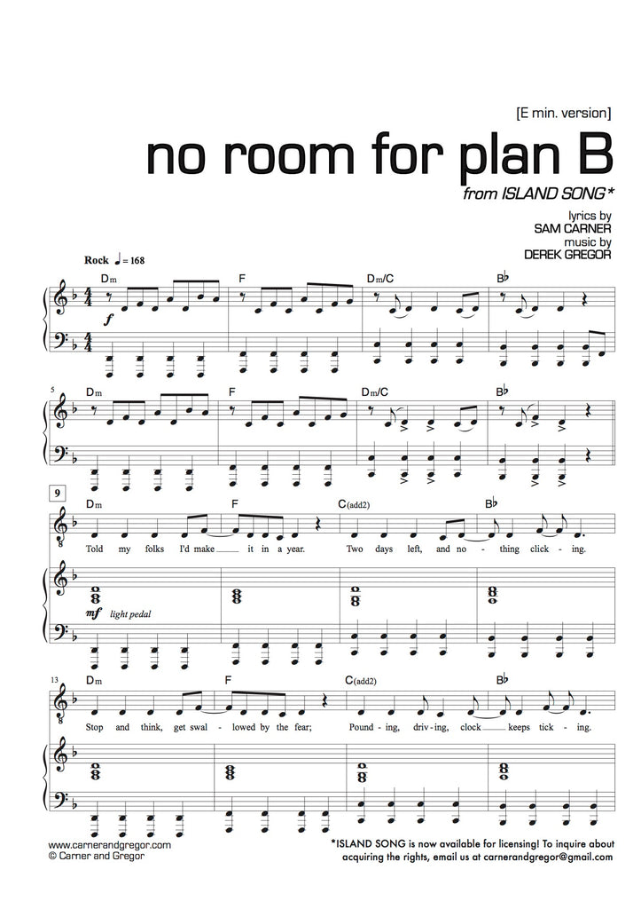 No Room For Plan B