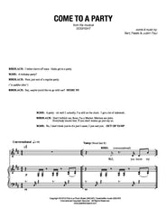 Come to a Party | newmusicaltheatre.com | Sheet Music