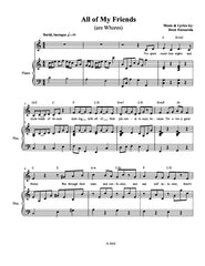 All of My Friends (are Whores) | newmusicaltheatre.com | Sheet Music