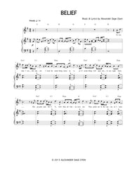 Belief (Female Key) | newmusicaltheatre.com | Sheet Music