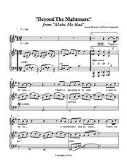 Beyond the Nightmare | newmusicaltheatre.com | Sheet Music