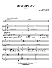 Before It's Over | newmusicaltheatre.com | Sheet Music