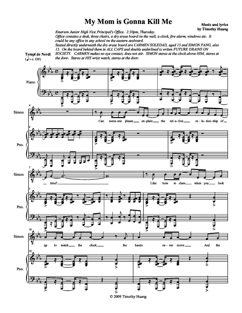 A Relative Relationship Vocal Selections | newmusicaltheatre.com | Sheet Music
