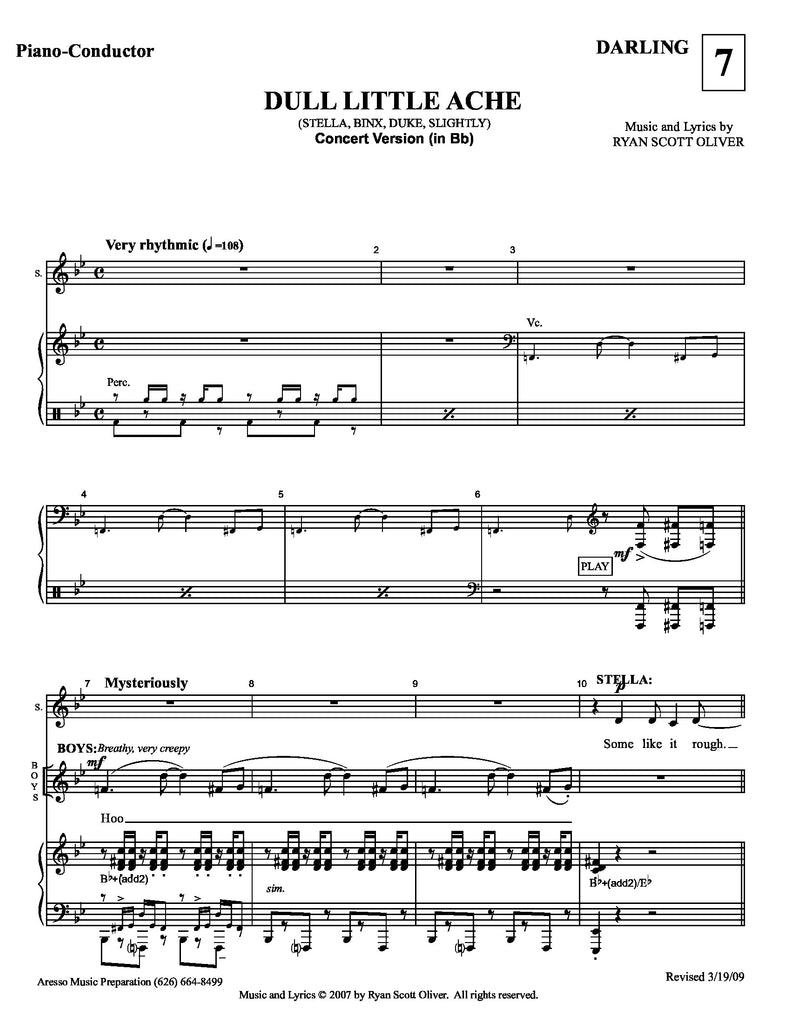RSO | Dull Little Ache | newmusicaltheatre.com | Sheet Music