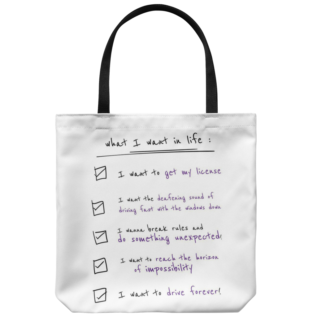 "Sam Brown ""Checklist"" tote"