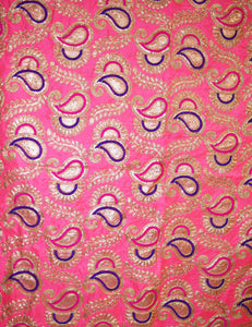 Neon Pink Embroidered Backdrop