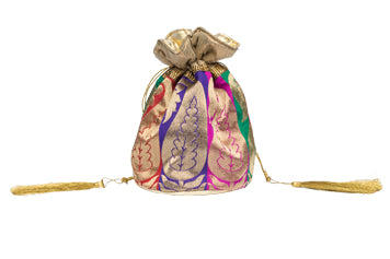 Paisley Plum Potli | Indian Favor Bag