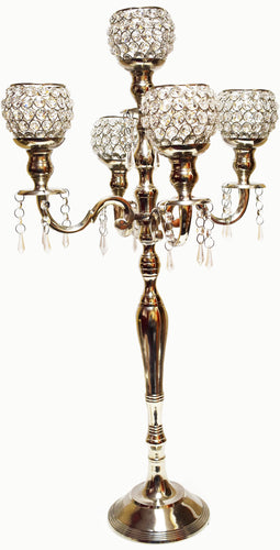 Silver Candelabra wedding decor rentals toronto
