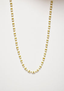 Small beaded White & gold necklace 2