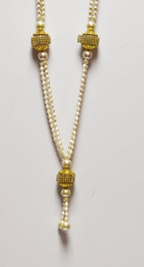 White & Gold necklace for groom