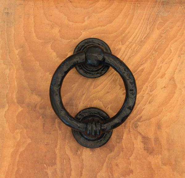"Black 4"" Ring Door Knocker"