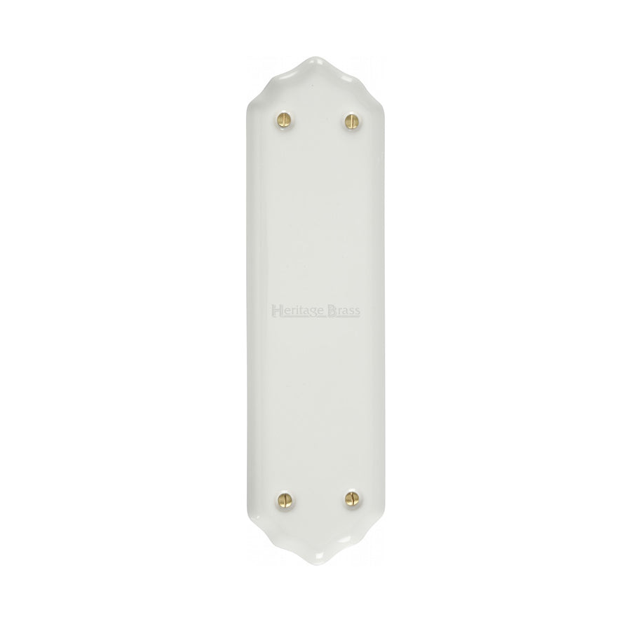 Shaped Fingerplate Plain White