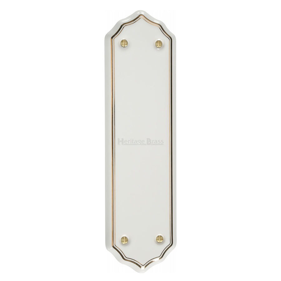 Shaped Fingerplate Gold Line