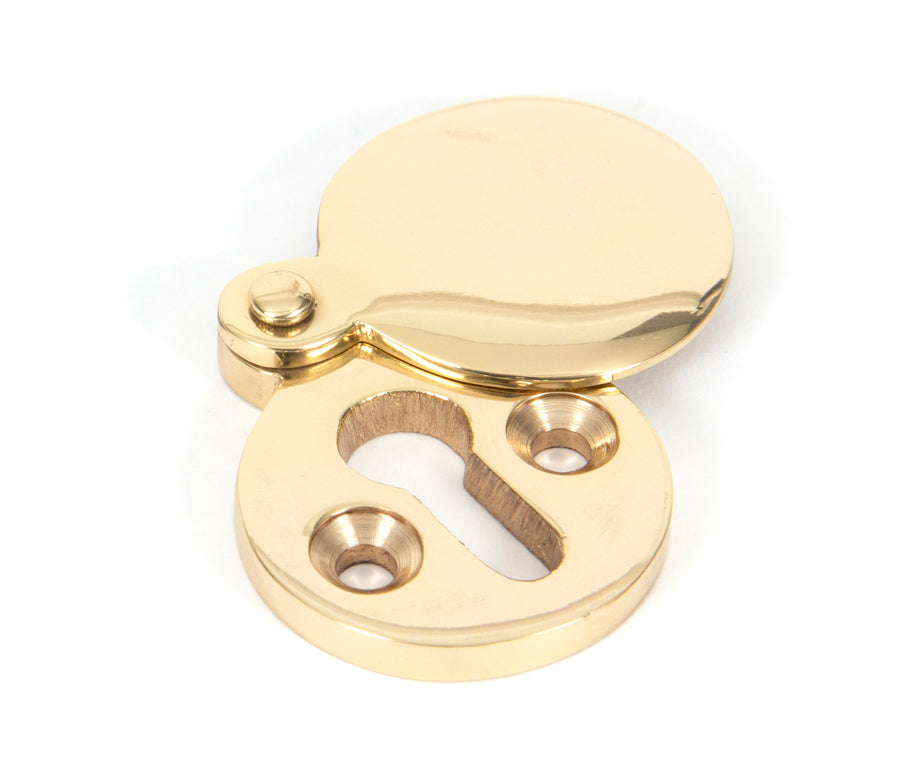 Polished Brass Round Escutcheon