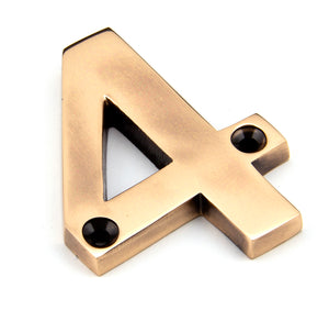 Numeral - Polished Bronze - Size: 78mm