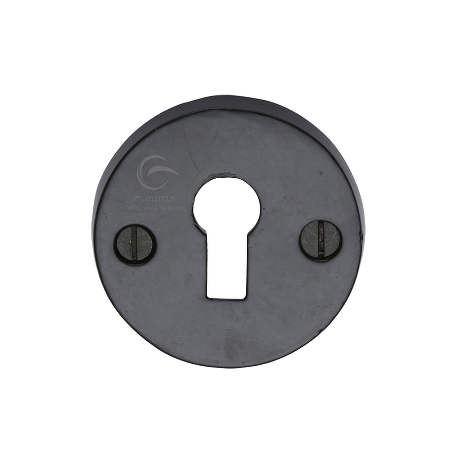 Black Iron Rustic Key Escutcheon