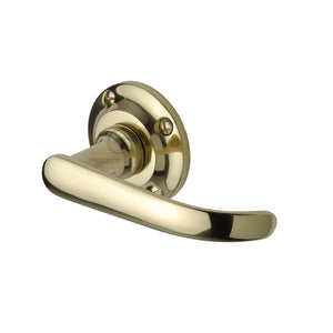 Project Hardware Door Handle Lever Latch on Round Rose Avon Design