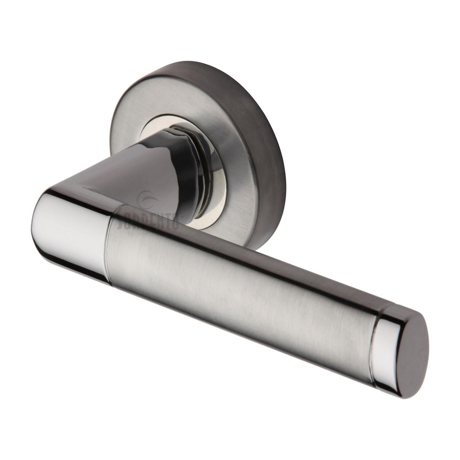 Sorrento Door Handle Lever Latch on Round Rose Milan Design