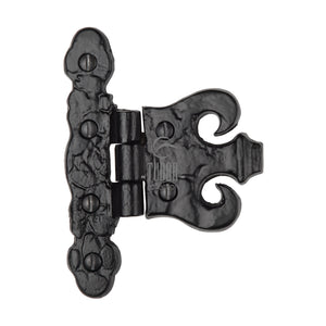 The Tudor Coronet Hinge Black Iron