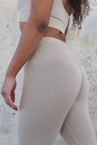 Resilience High Waisted Workout Leggings (Sand)