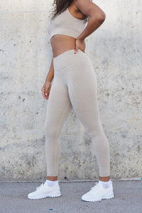 Resilience High Waisted Leggings (Sand)