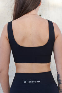 Resilience Sports Bra (Midnight Black)