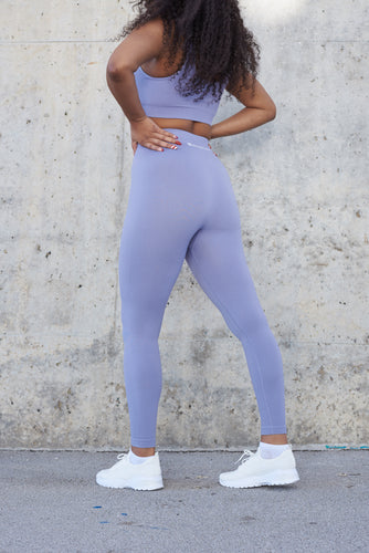 FLOW High Waisted Workout Leggings (Blue Willow)