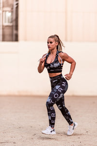 Troops Squad Military Workout Leggings (Blue)