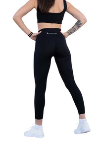 Resilience High Waisted Workout Leggings (Midnight Black)