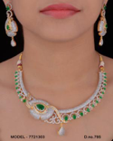Bollywood Style Cubic Zirconia Necklace set